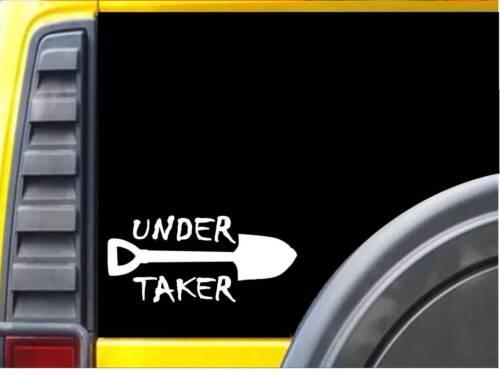 Undertaker K937 8 inch Sticker funeral casket decal