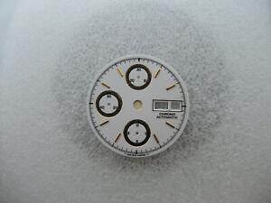 XXL Carbon Chronograph Tachymetre Zifferblatt für ETA Valjoux 7750 Neu