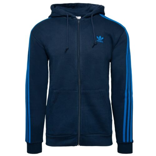 Adidas 3-Stripes Full Zip Hoodie Herren Kapuzen Jacke Sweatjacke navy EK0259