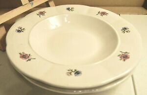 Gibson China Set Of 2 Meridian 9 1 4 Soup Cereal Salad Bowls White With Flowers Ebay