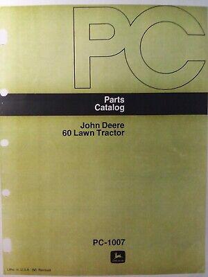 kubota tractor wiring diagrams opc john deere 60 lawn tractor parts manual pc 1007 1966 1969 6 h p  lawn tractor parts manual pc 1007