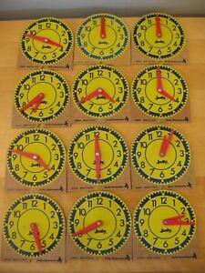 Lot-of-12-JUDY-INSTRUCTO-Mini-Clocks-209041