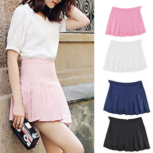 Women-High-Waist-Comfortable-Slim-Mini-Pleated-Tennis-Short-Skirts-Dress-Playful