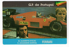 1987 portugués De Bolsillo Calendario F1 Ferrari Equipo-Alboreto y Johansson