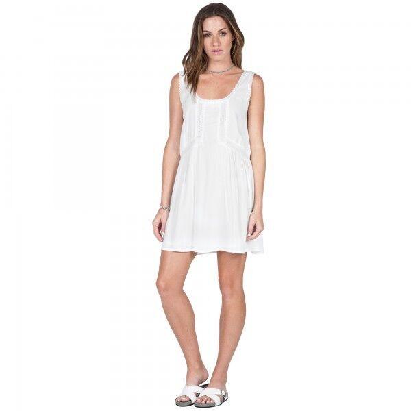 2016 NWT WOMENS VOLCOM STARFISH DRESS  50 S white lace trim inserts scoop
