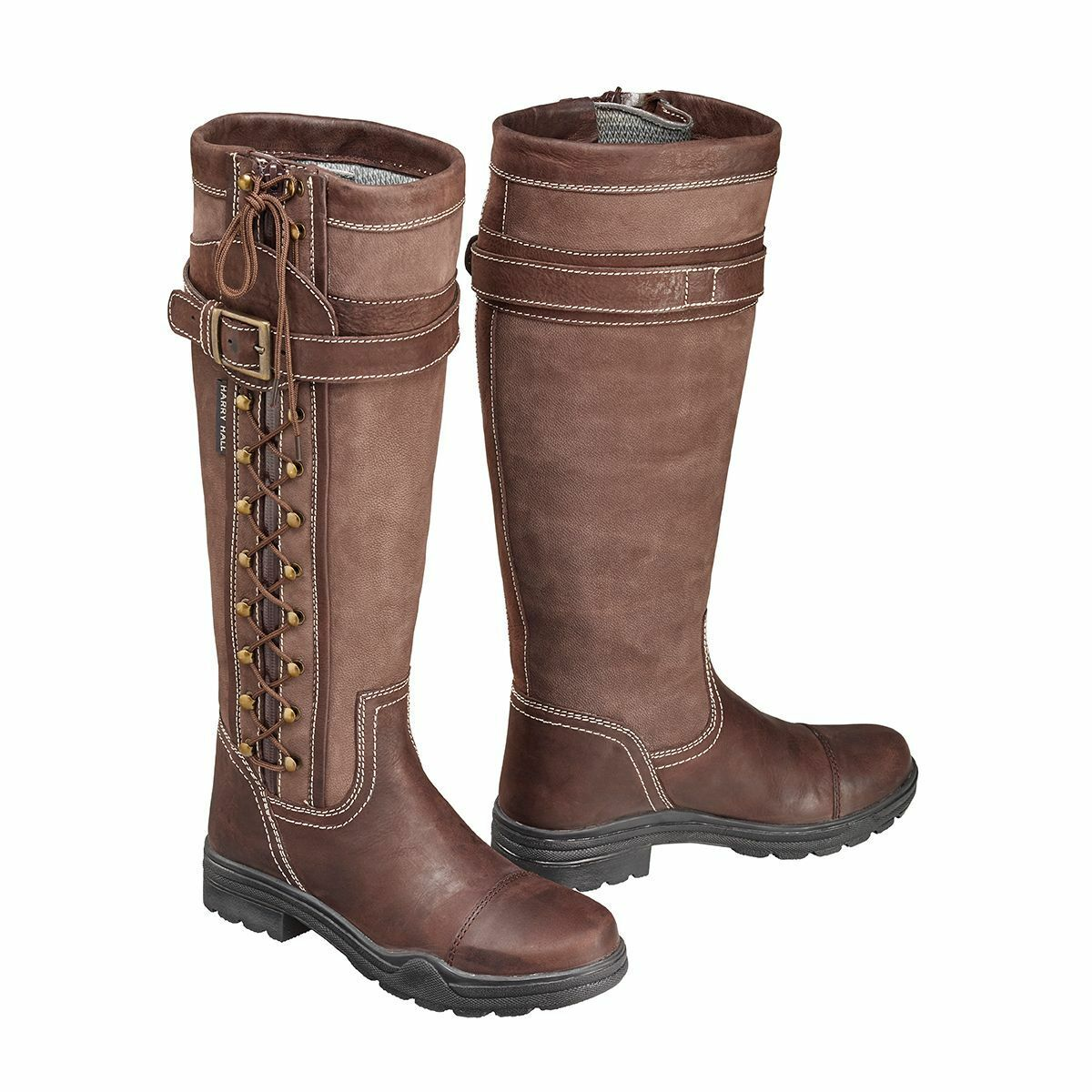 Harry Hall overstone botas de cuero largo país, Impermeable, caminar,