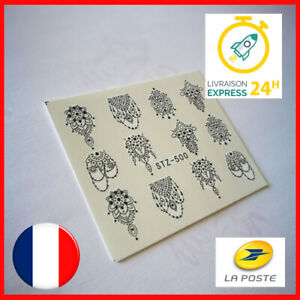 LOT-DE-2-NAIL-ART-ORIENTAL-ONGLES-DECO-STICKER-AUTOCOLLANT