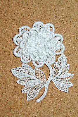 Flowers - Dahlia - sew-on lace motif/applique/patch/craft/card making