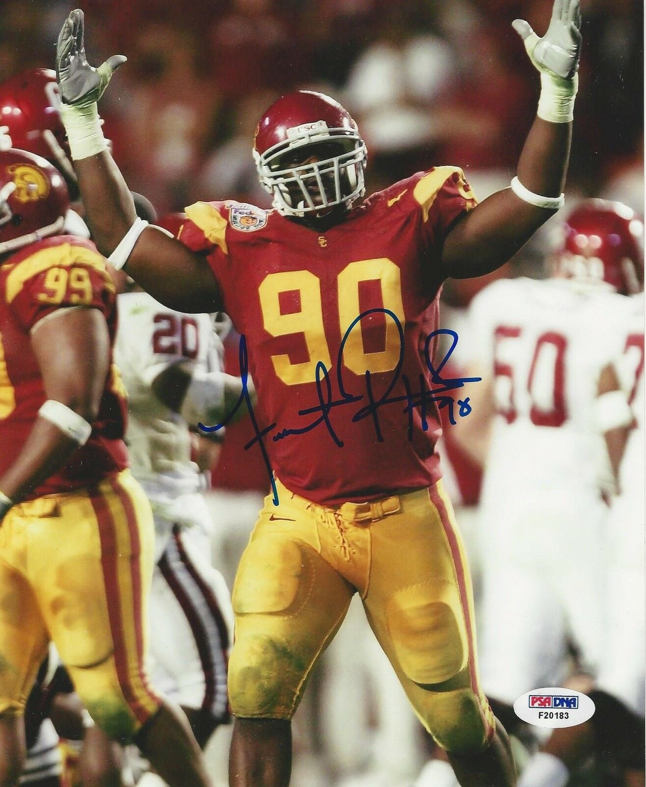 Frostee Rucker USC Trojans signed 8x10 photo PSA/DNA #F20187