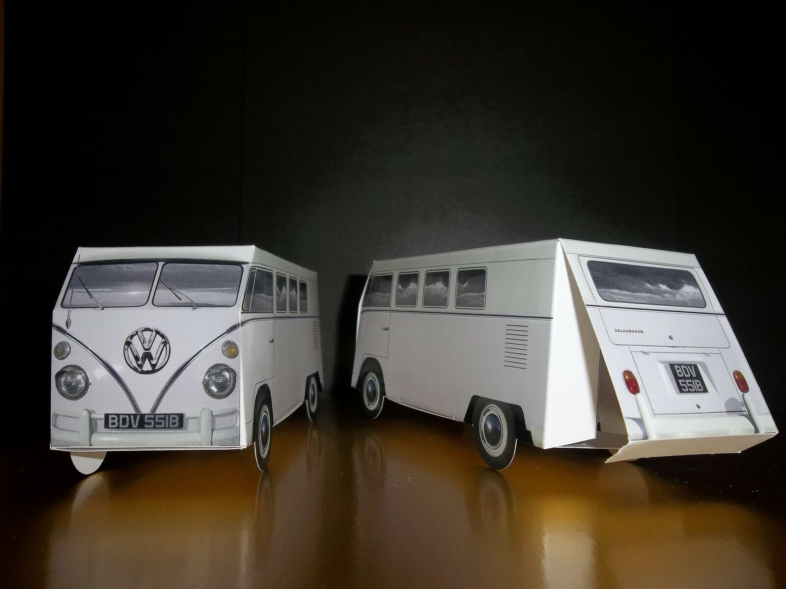 100 X Blanc VW écran Camper Van Faveur Nuptiale VW Party Box Sweet Box