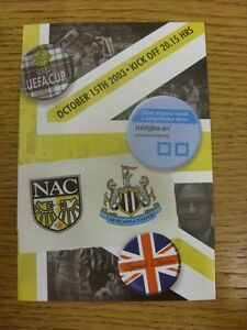 15102003 NAC Breda v Newcastle United UEFA Cup Official Issue Trusted sel - Birmingham, United Kingdom - Returns accepted within 30 days after the item is delivered, if goods not as described. Buyer assumes responibilty for return proof of postage and costs. Most purchases from business sellers are protected by the Consumer Contr - Birmingham, United Kingdom