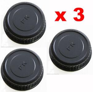 3-x-TAPPI-TAPPO-POSTERIORE-COPRI-OBIETTIVO-PENTAX-K-REAR-LENS-CAP-COMPATIBILE