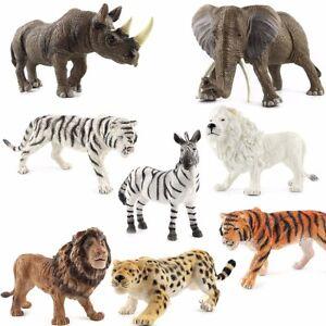 Rhinoceros Tiger Lion 3d Zoo Wild Animal Model Jumbo Toys Realistic