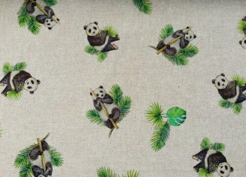 Panda Bear BAMBO feuilles en toile coton Heavy Duty recouvert de tissu oriental