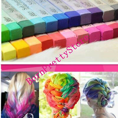 1pc Fashion Fast Easy Temporary Color Hair Dye Crayon Chalk- 24 Colors