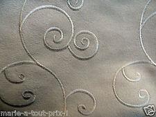 Tissu de déco ameublement haut de gamme TEXAM 110cm x 140cm Tivoli couleur sable