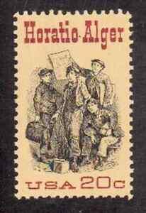 Scott # 2010...20 Cent.... Horatio Alger... 50 Stamps... MNH