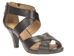 66710d5654d0 Image is loading BNIB-Ladies-Clarks-shoes-Florine-Sashae-Black-leather-