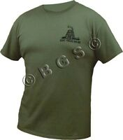 Dont Tread On Me Tea Party Ss 'low Key' Green T Shirt S-3x Come And Take It 2a