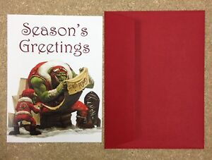 image is loading ml warhammer christmas card games workshop orks orcs - Christmas Card Games