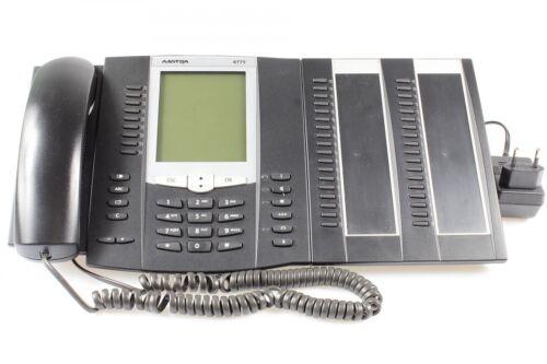 MwSt. Aastra 6775 Systemtelefon mit Extension M671 schwarz mit Netzteil inkl