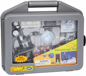 Science-Tech-Die-cast-Microscope-Set-with-Carrying-Case