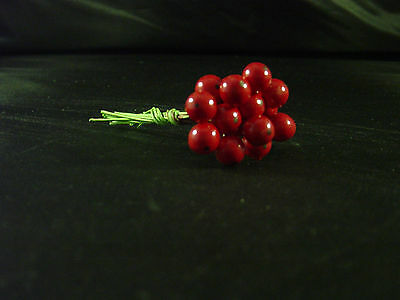 72 Bright Red Holly Berries - Embellishments cardmaking, scrapbooking ,favours