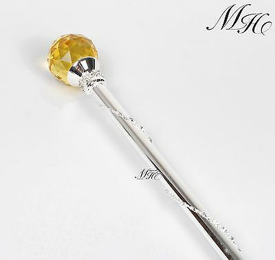 White Round Ball Crystal Scepters Wand Gold Sceptre Pageant Birthday Party Props