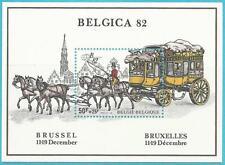 """Belgien aus 1982 ** postfrisch MiNr. 2129 Block 53 Postkutsche """"Belgica 82"""""""