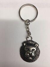 Lion ZLKR made of fine English Pewter on a split ring keyring
