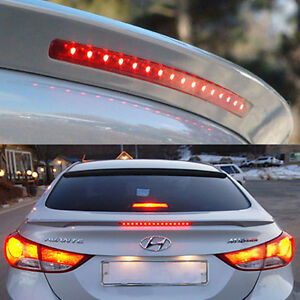 Rear-Trunk-LED-Lip-Spoiler-Garnish-Black-Painted-For-HYUNDAI-2011-16 ...