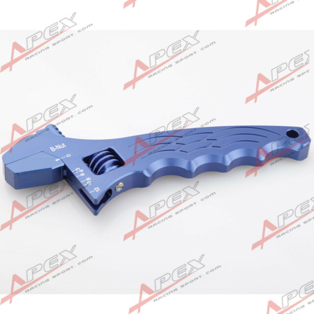 Adjustable Aluminum AN Wrench Hose Fitting Tool Spanner Blue