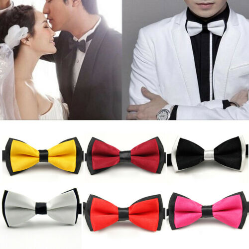 Men Fashion Wedding Formal Party Tuxedo Bowtie Pre Tied Satin Bow Tie Necktie
