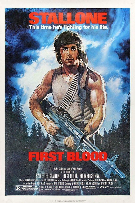 Vintage Rambo First Blood Poster  Classic Movie Poster  Movie Poster  Poster Rep
