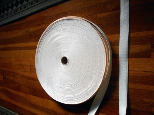 Cream//Light Yellow 10 yards Nylon Strap 1 Inch Polypropylene Webbing