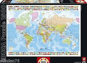 Educa 16301 world map jigsaw puzzle 1500 pieces 85 x 60cm image is loading educa 16301 world map jigsaw puzzle 1500 pieces gumiabroncs