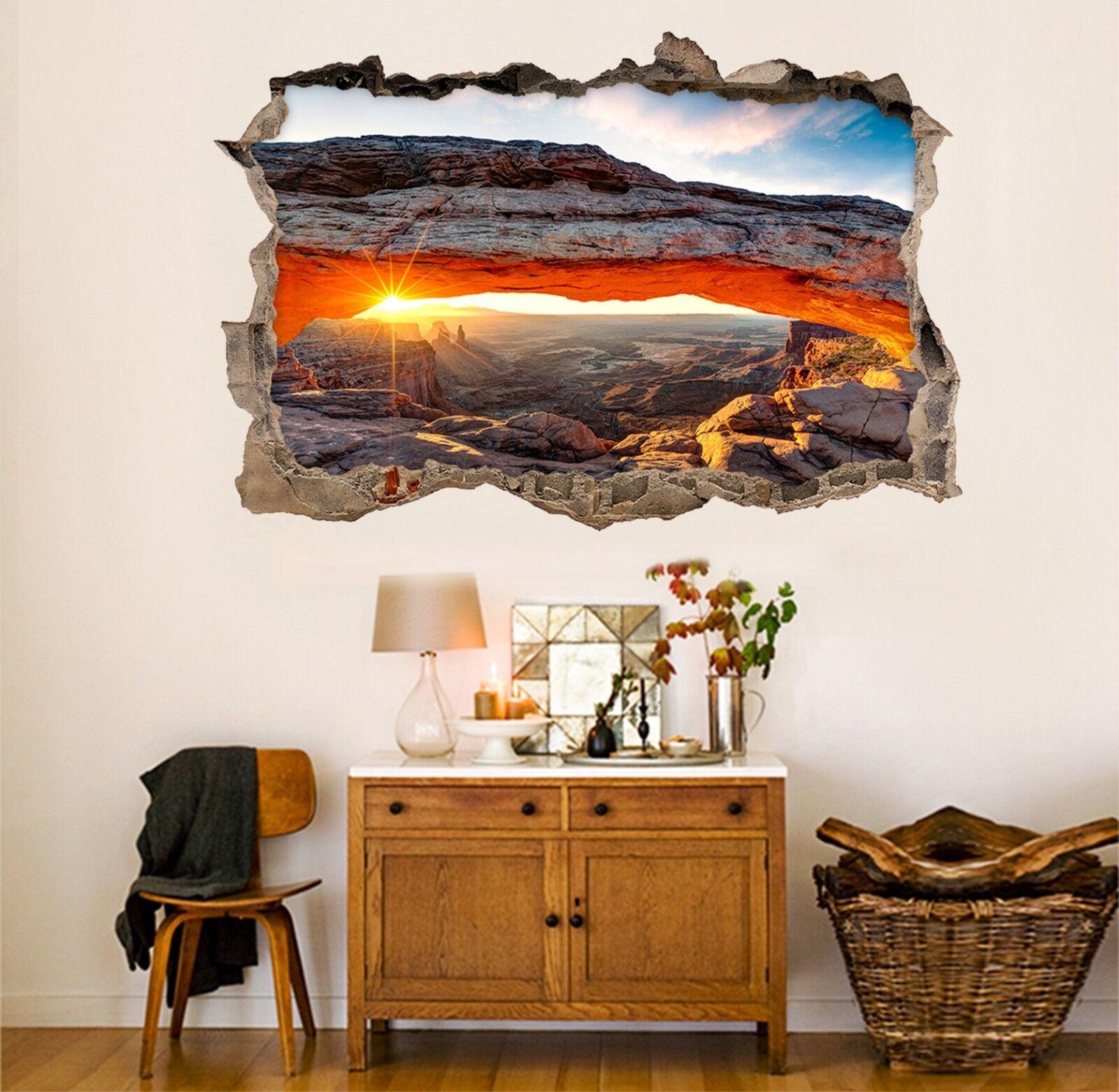 3D Paesaggio Caverne 21 Parete Murales Adesivi Decal Sfondamento AJ WALLPAPER IT