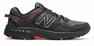 New-Balance-Men-039-s-410V6-Trail-Shoes-Black-With-Grey-amp-Red