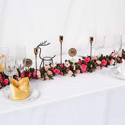 8.2ft Artificial Rose Garland Silk Flower String Vine Ivy Party Garden Decor US