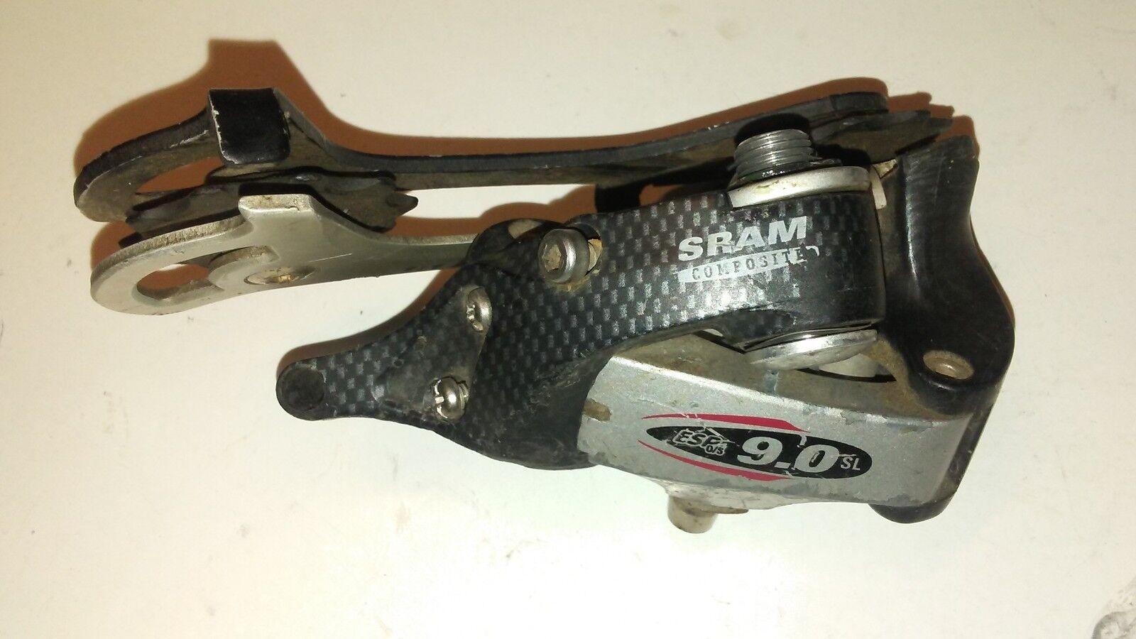 SRAM 9.0 SL carbon composites rear derailleur Long cage 9 Speed