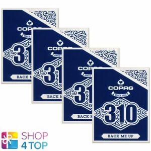 4-DECKS-COPAG-310-BACK-ME-UP-POKER-PLAYING-KARTEN-PAPER-STANDARD-INDEX-BLAU-NEU