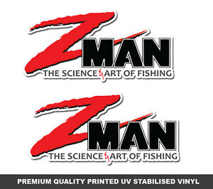 Z-Man-Lures-Stickers-x-2-ZMAN-Fishing-Decals-marine-tackle-swim-bait-graphics