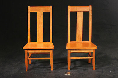 Woodenface 1/6 Scene Wooden (Black Walnut) Tall Dinner Chair X2