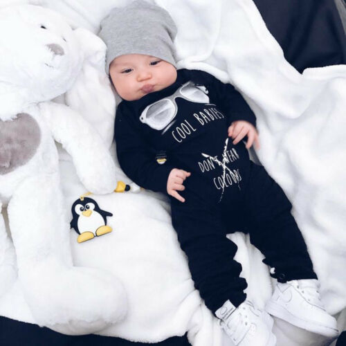 Newborn Kids Baby Boy Girl Infant Romper Bodysuit Cotton Clothes Outfit Jumpsuit