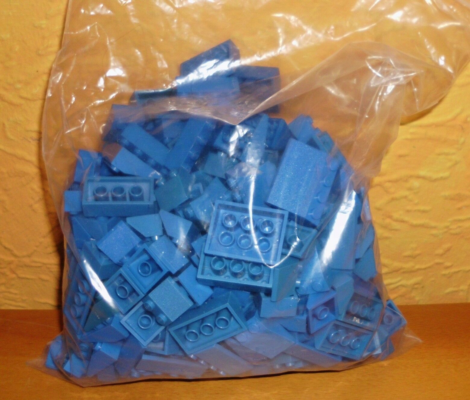 Lego Steine ca. 450g Dachziegel 3x2 3x4 2x4 2x2 blau 3297 3298 3299 3037 3039
