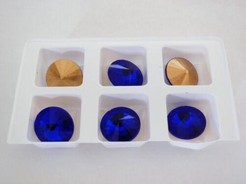 Sapphire Four 14 mm Rivoli Beads 4
