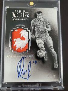 2016-17 Panini Noir Soccer Jersey Autograph Robin Van Persie #21/25 Netherlands