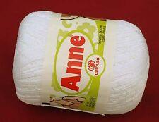Crochet Yarn / Thread CIRCULO ANNE Mercerized Cotton - #8001 WHITE