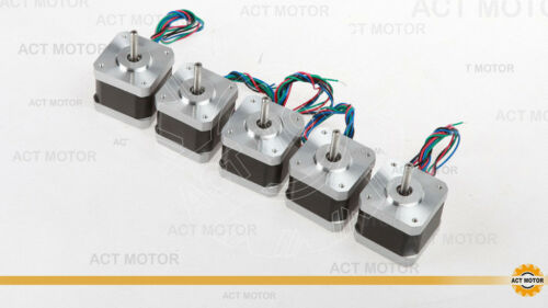 MOTORE ACT GmbH 5pcs NEMA 17 17hs4417 motore passo passo 1.7a 40mm 4000g.cm STAMPANTE 3d