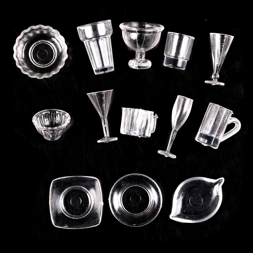 13pcs//lot plate cup dish bowl tableware Dollhouse Miniature Toy Doll craft EP